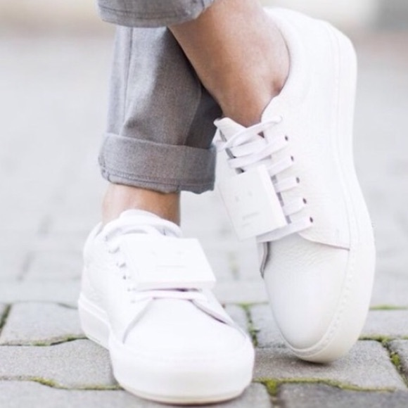 Acne Shoes | Acne Adriana White Leather